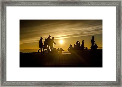 Rooftop Sunset Framed Print by Kathleen Alhaug