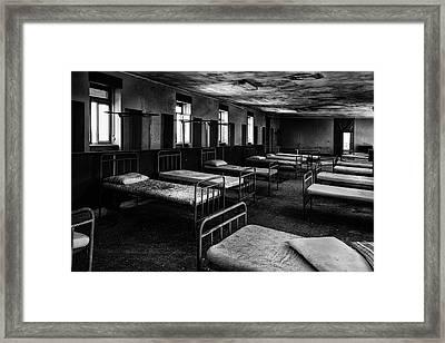 Room Of Nightmares - Abandoned School Building Framed Print by Dirk Ercken