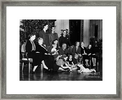 Roosevelt: Family, 1939 Framed Print by Granger