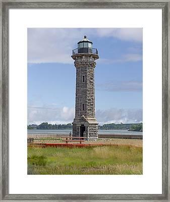 Roosevelt Island Light Framed Print by Capt Gerry Hare