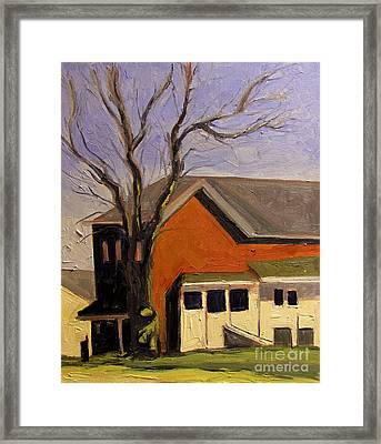 Rooster Tree At Noon Framed Print by Charlie Spear