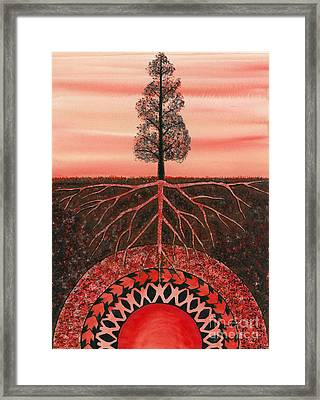 Root Chakra Framed Print by Catherine G McElroy