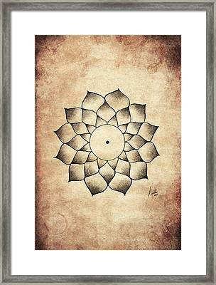 Root Charka Framed Print by Sumit Mehndiratta