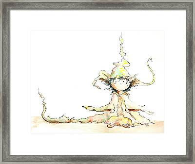 Root Wizard Girl Framed Print by Victoria Miller