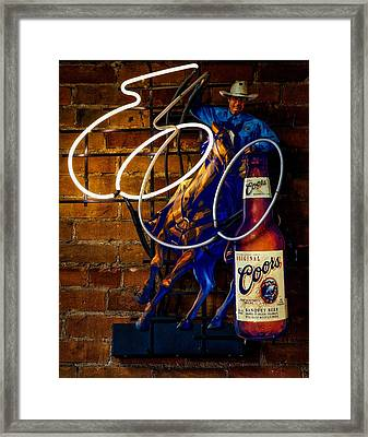 Rope A Coors Framed Print by Mountain Dreams