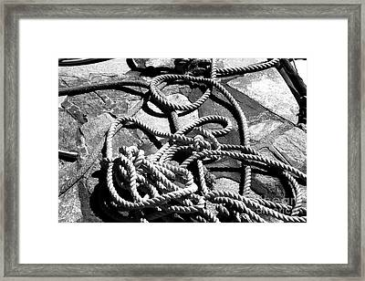 Rope Infrared Framed Print by John Rizzuto