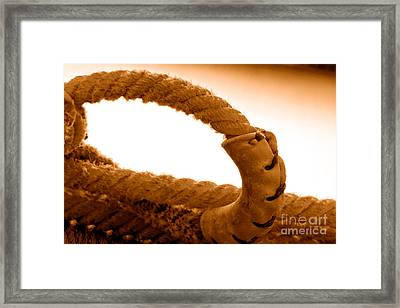 Roping Gear - Sepia Framed Print by Olivier Le Queinec