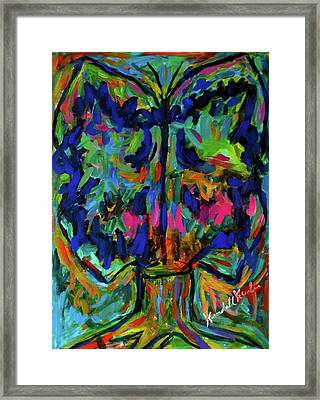 Rorschach Flight Framed Print by Kendall Kessler