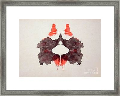 Rorschach Test Card No. 2 Framed Print by Science Source