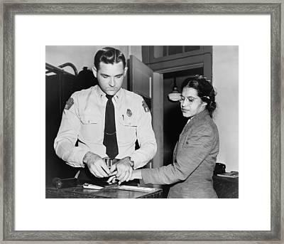 Rosa Parks 1913-2005, Whose Refusal Framed Print by Everett