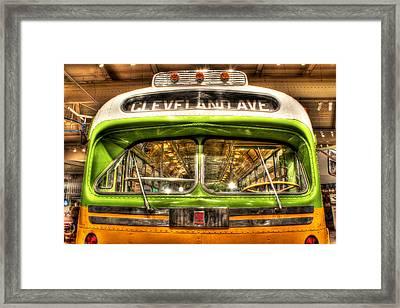 Rosa Parks Bus Dearborn Mi Framed Print by Nicholas  Grunas