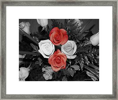 Rose Bouquet Framed Print by DigiArt Diaries by Vicky B Fuller