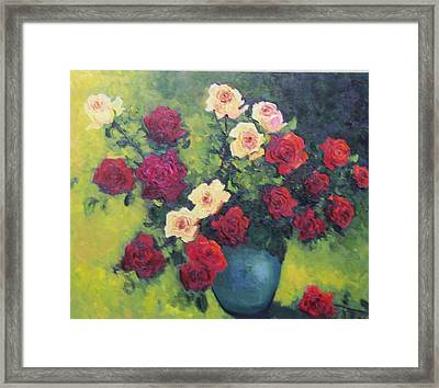 Rose Bowl  Framed Print by Lore Rossi
