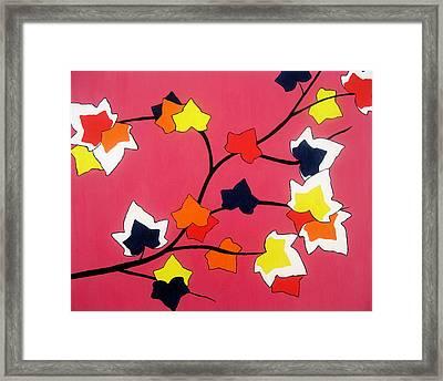 Rose Coloured Glow Framed Print by Oliver Johnston