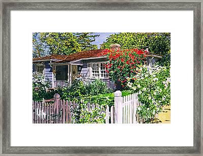 Rose Cottage  Framed Print by David Lloyd Glover