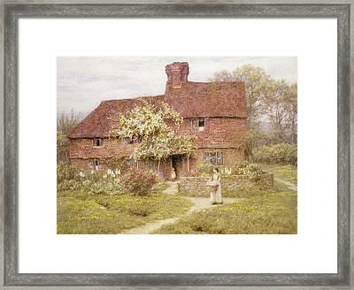 Rose Cottage Framed Print by Helen Allingham