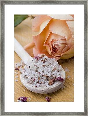 Rose-flavored Sea Salt Framed Print by Frank Tschakert