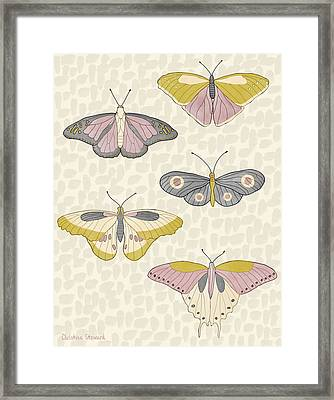 Rose Gold Butterflies Framed Print by Christina Steward