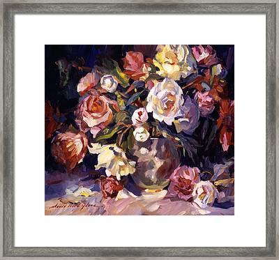 Rose Impressions Framed Print by David Lloyd Glover