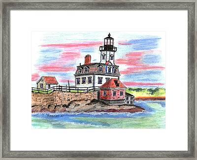 Rose Island Lighthouse Framed Print by Paul Meinerth