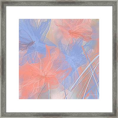 Rose Quartz And Serenity - Pantone Color Of The Year 2016 Framed Print by Lourry Legarde