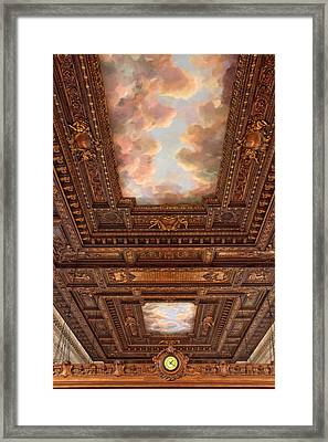 Rose Reading Room Ceiling Framed Print by Jessica Jenney