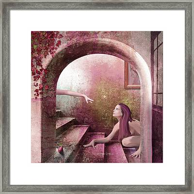 Rose Framed Print by Van Renselar
