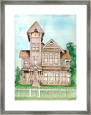 Rose Victorian Inn - Arroyo Grande Ca 1886 Framed Print by Arline Wagner