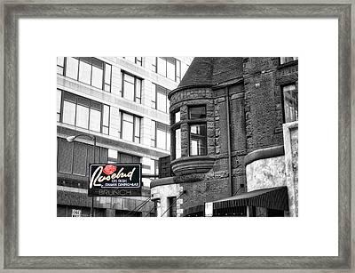Rosebud On Rush Signage Sc Framed Print by Thomas Woolworth