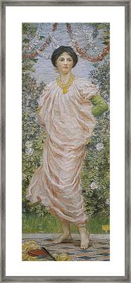 Roses Framed Print by Albert Joseph Moore