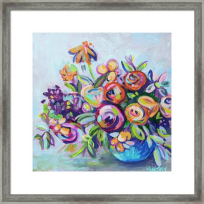 Roses And Kumquats Framed Print by Kristin Whitney