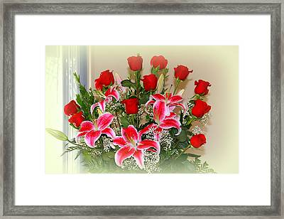 Rose's Framed Print by Athala Carole Bruckner