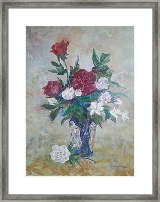 Roses Framed Print by Edward Tomilov