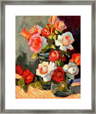 Roses From My Garden Framed Print by Diane McClary