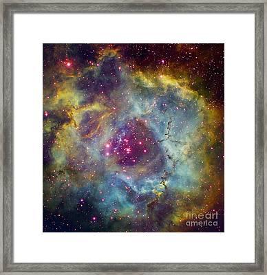 Rosette Nebula Ngc 2244 In Monoceros Framed Print by Filipe Alves