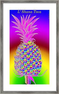 Rosh Hashanah Pineapple Framed Print by Eric Edelman