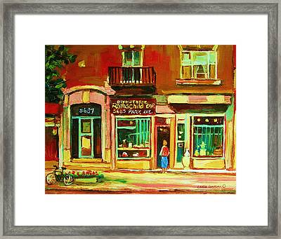 Rothchilds Jewellers On Park Avenue Framed Print by Carole Spandau