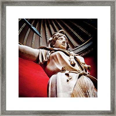 Rotunda Colossals 2 Of 3 Vatican Museum Ancient Statues Rome Italy Framed Print by Andy Smy