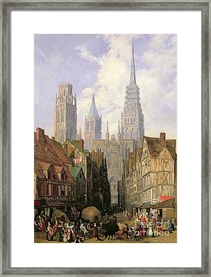 Rouen Cathedral Framed Print by Lewis John Wood