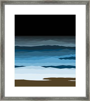 Rough Seas Framed Print by Val Arie