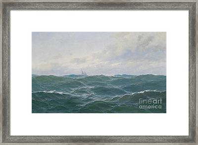 Rough Seascape Framed Print by Celestial Images