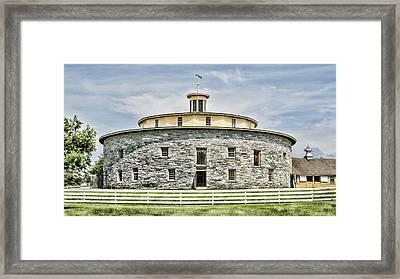 Round Barn Framed Print by Stephen Stookey