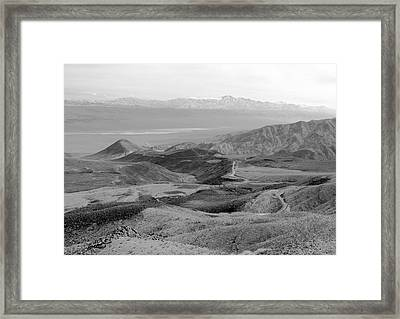 Route 190 And The Panamint Valley Framed Print by Troy Montemayor