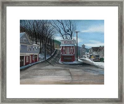 Route 6 Meshoppen Pa Framed Print by John Clum