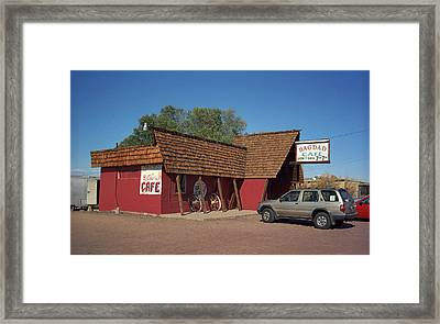 Route 66 - Bagdad Cafe Framed Print by Frank Romeo