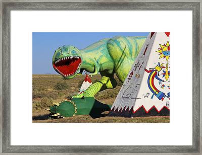 Route 66 Can Be Brutal Framed Print by Mike McGlothlen
