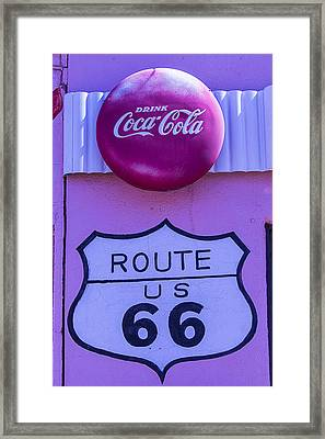 Route 66 Coca Cola Sign Framed Print by Garry Gay