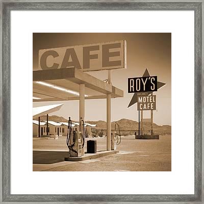 Route 66 - Roy's Motel  Framed Print by Mike McGlothlen