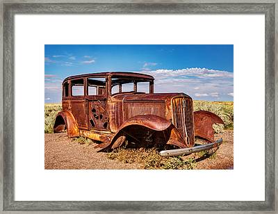 Route 66 Studebaker Framed Print by James Marvin Phelps