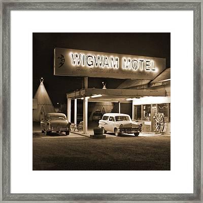 Route 66 - Wigwam Motel Framed Print by Mike McGlothlen